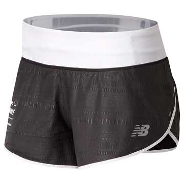 New Balance Brooklyn Half Printed Impact Short 3 Inch, Black