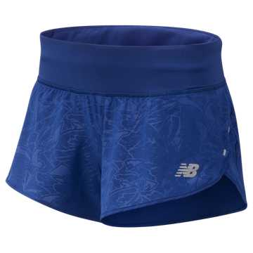 New Balance 3 Inch Printed Impact Short, Techtonic Blue