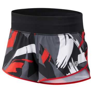 New Balance 3 Inch Printed Impact Short, Velocity Red