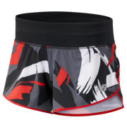 NB 3 Inch Printed Impact Short, Velocity Red