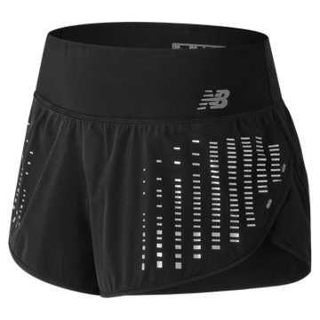 New Balance 3 Inch Reflective Impact Short, Black