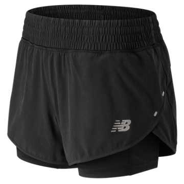New Balance 4 Inch Impact Short, Black