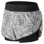 NB 4 Inch Printed Impact Short, Black with White