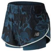 New Balance 4 Inch Printed Impact Short, North Sea