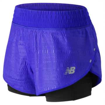 New Balance 4 Inch Printed Impact Short, UV Blue