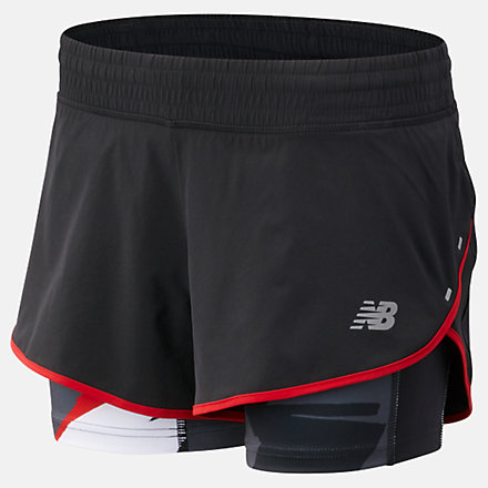 New Balance 4 Inch Printed Impact Short, WS81265VLR image number null