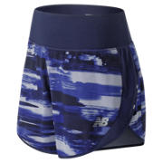 NB 5 Inch Printed Impact Short, Blue Iris