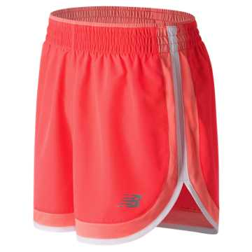 New Balance Accelerate 5 Inch Short, Vivid Coral