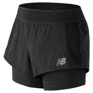 New Balance 运动短裤 女款 舒适面料 运动休闲, BK