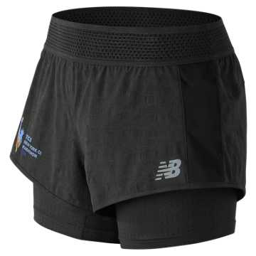 New Balance NYC Marathon Q Speed Mesh Short, Black
