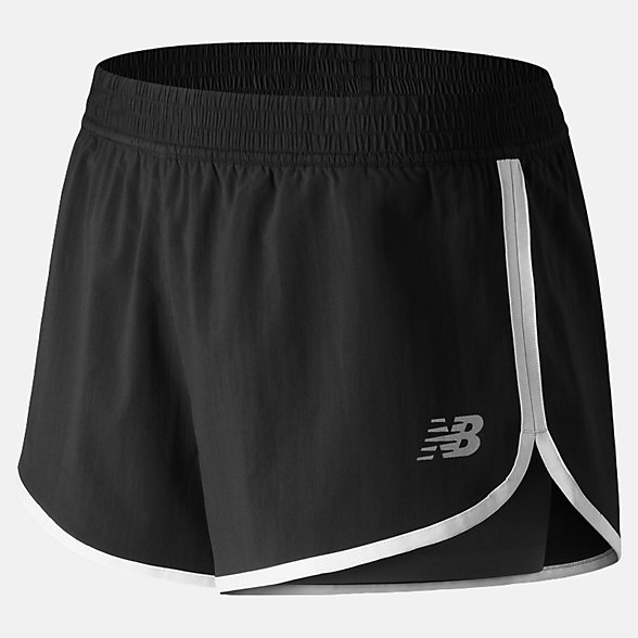 New Balance Short d'entraînement Accelerate 2 en 1, WS91140BK
