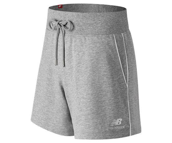 afbf97a0d1f91 New Balance Essentials Pinstripe Short, Athletic Grey