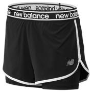 New Balance Short 2 en 1 Relentless, Noir
