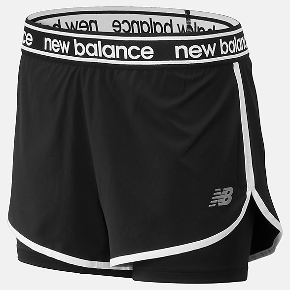 NB Relentless 2 in 1 Shorts, WS93172BK