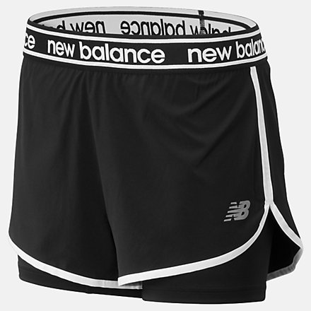 New Balance Relentless 2 In 1 Short, WS93172BK image number null