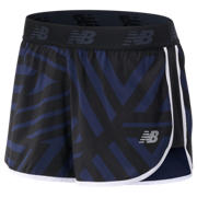 New Balance Short imprimé Accelerate 6 cm, Black with Pigment