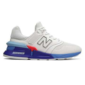 New Balance 997 Sport, White with Summer Sky