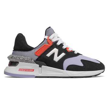 New Balance 997 Sport, Black with Clear Amethyst