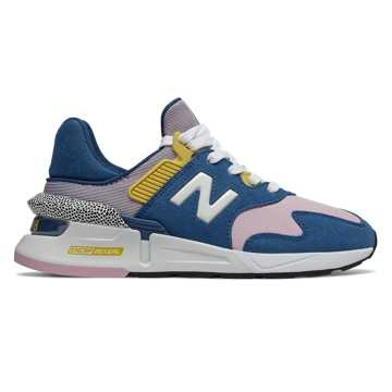 New Balance 997 Sport, Blue with Oxygen Pink
