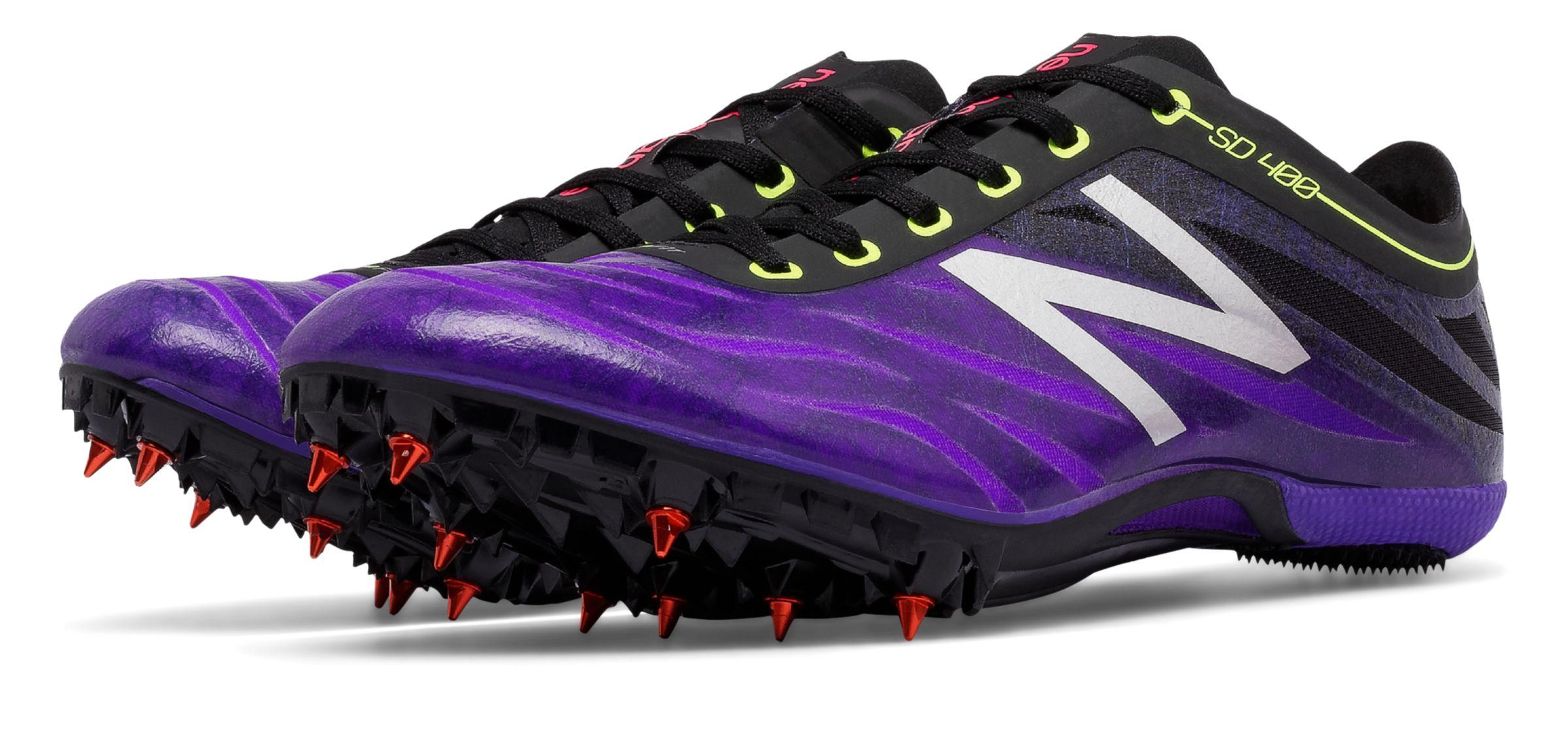 New Balance Women's SD400V3 Track Spike, Orange/Purple, 12 B US