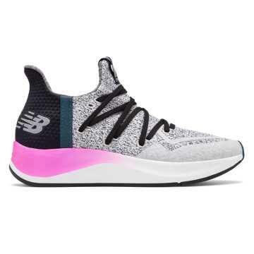 New Balance Cypher V2系列女款跑步运动鞋, 白色/黑色