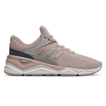 New Balance X90系列女款复古休闲运动鞋 潮流复古  , 灰粉色