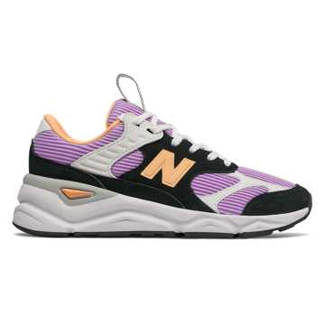 New Balance X-90 Reconstructed, Black with Dark Violet Glo