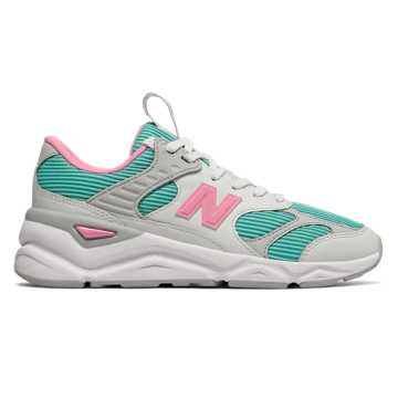 New Balance X-90 Reconstructed, White with Light Tidepool