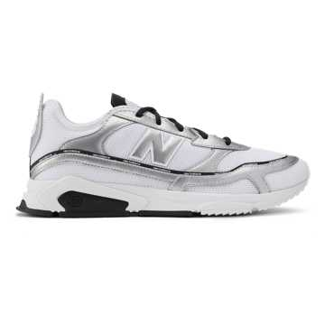New Balance X-Racer, Munsell White with Silver Metallic
