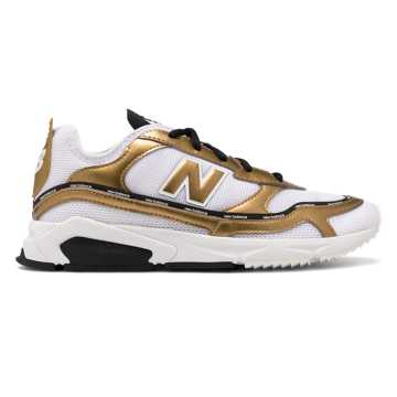 New Balance X-Racer, Munsell White with Gold Metallic