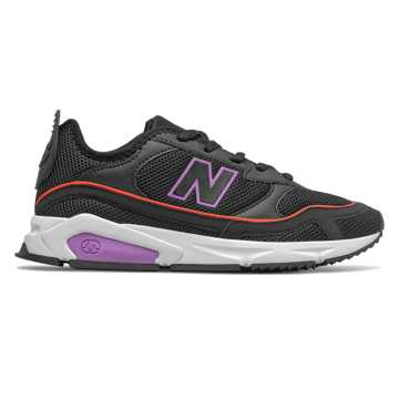 New Balance X-Racer, Black with Neo Violet