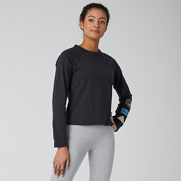 New Balance Relentless Ringer Long Sleeve, WT01159BK