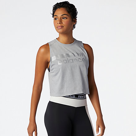NB Relentless Crop Novelty Tank, WT01162AGT image number null