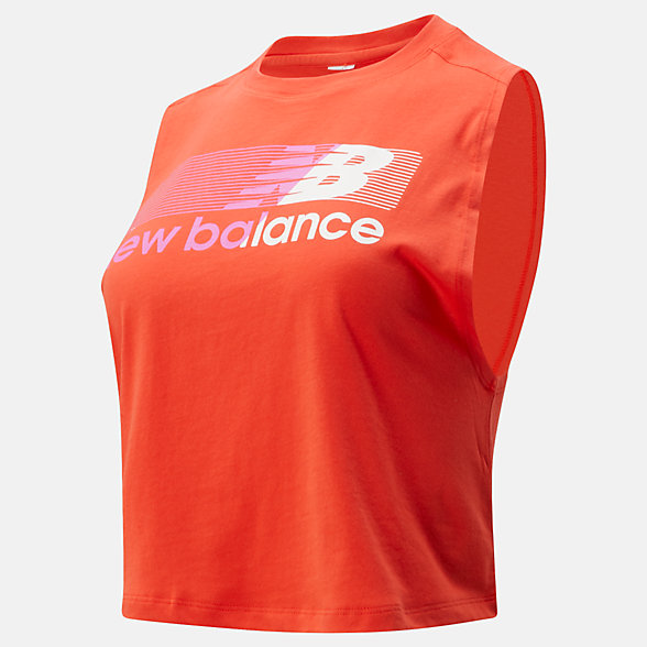 New Balance Relentless Crop Novelty Tank, WT01162NEF