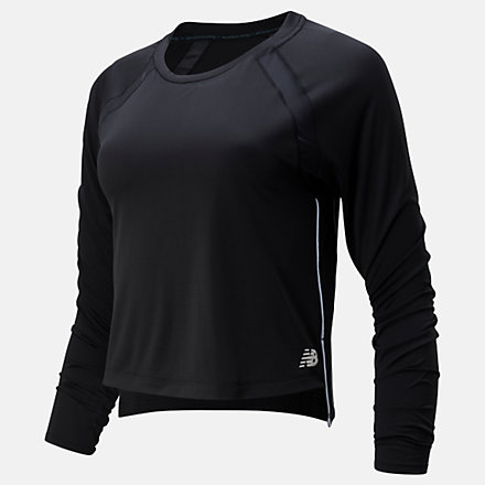 NB Fast Flight Long Sleeve, WT01201BK image number null