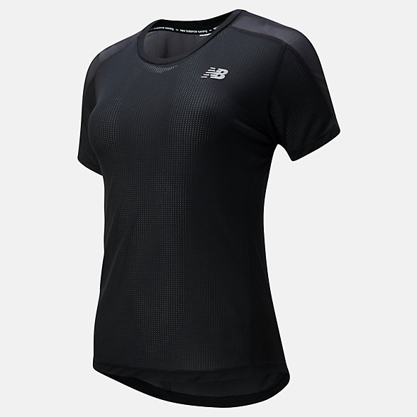NB Impact Run Short Sleeve, WT01234BK