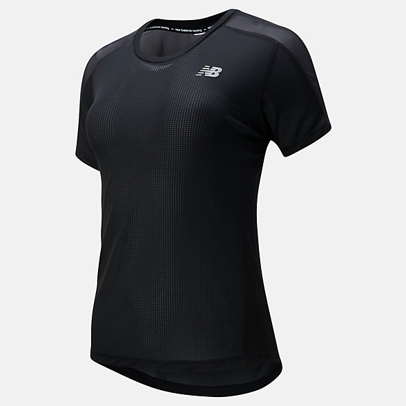 NB Impact Run Short sleeve top, WT01234BK