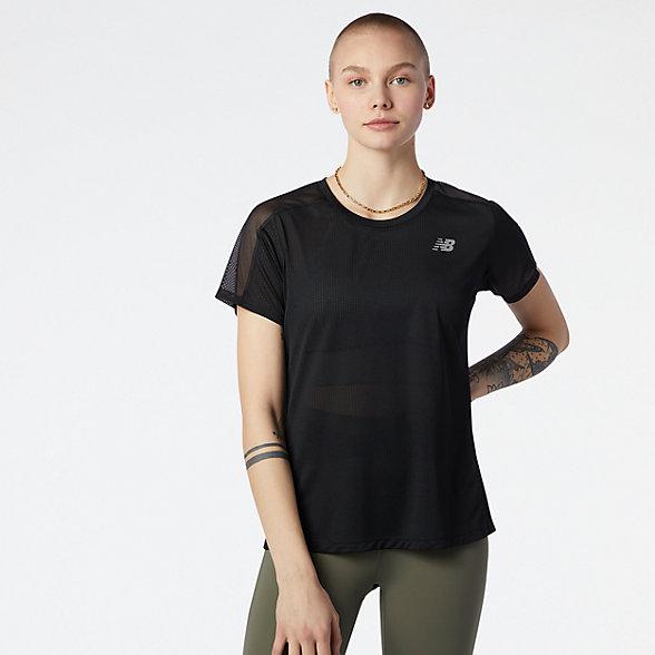 NB Impact Run Short sleeve top, WT01234BK