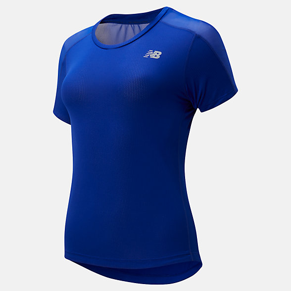 New Balance Impact Run Short Sleeve, WT01234MIB