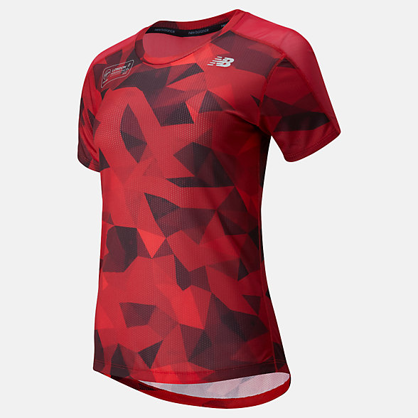 NB London Edition Printed Impact Run Short Sleeve , WT01235DNCR