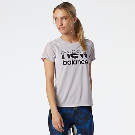New Balance Printed Impact Run Short Sleeve, WT01235LOR image number null