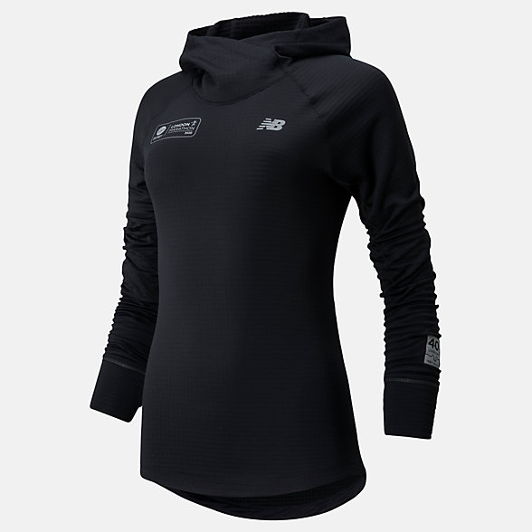 NB London Marathon Impact Run Grid Kapuzenpullover, WT01246DBK