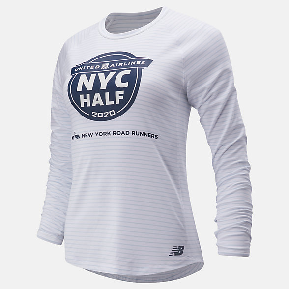 New Balance 2020 United Airlines Half Q Speed Seasonless Long Sleeve, WT01252CWM