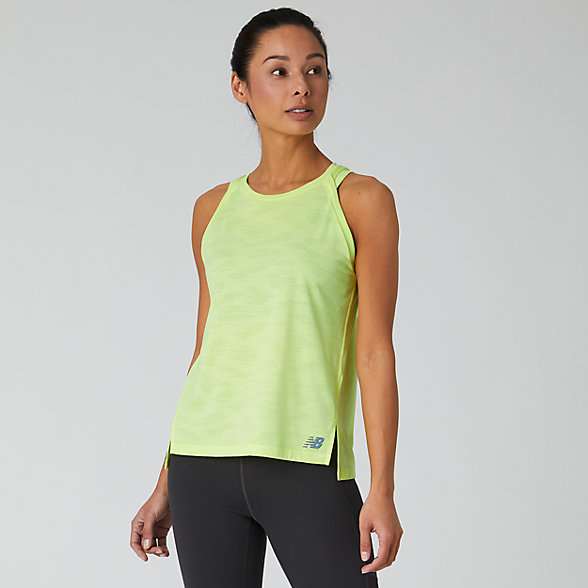 NB Q Speed Jacquard Tank, WT01254LS3