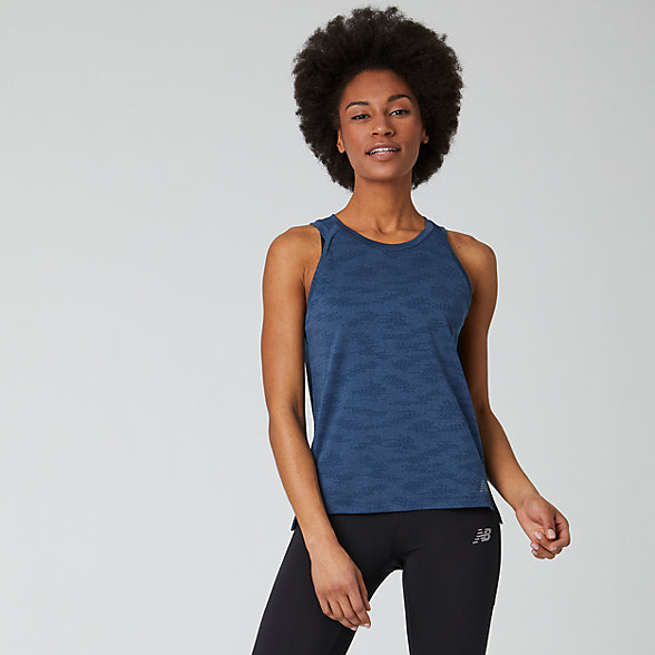 New Balance Q Speed Jacquard Tank, WT01254NIH
