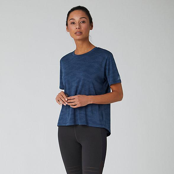 New Balance Q Speed Jacquard Short Sleeve Tee, WT01255NIH