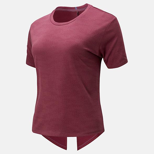 New Balance Q Speed Jacquard Short Sleeve Tee, WT01255NRH