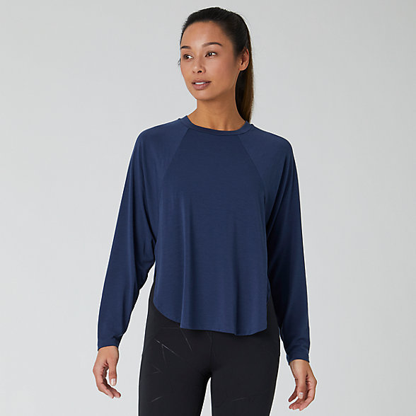 New Balance Evolve Side Slit Long Sleeve, WT01452NGO
