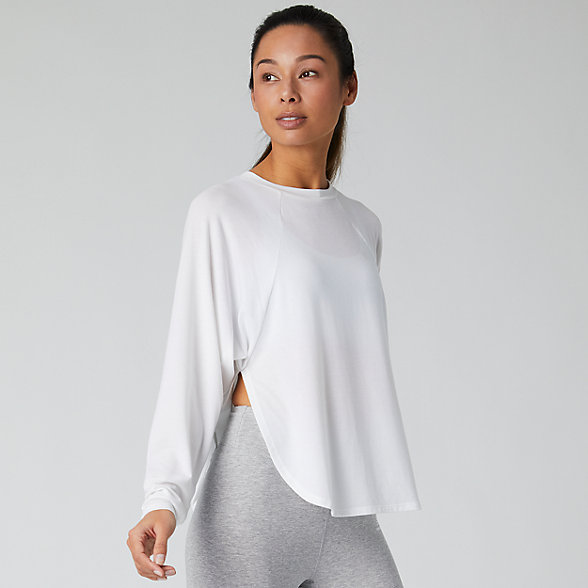 New Balance Evolve Side Slit Long Sleeve, WT01452WT