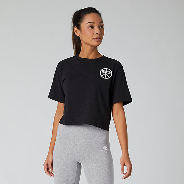 New Balance Evolve Graphic Tee, WT01463BK